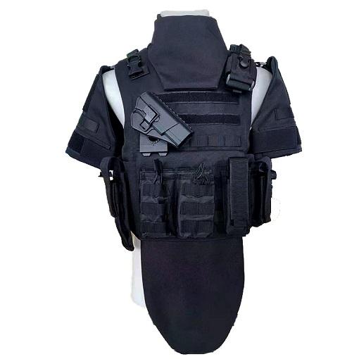 黑色全防护战术防弹衣